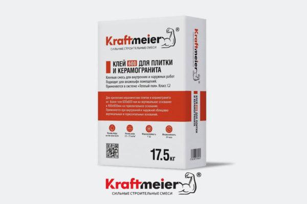 Клей для плитки и керамогранита Kraftmeier 600